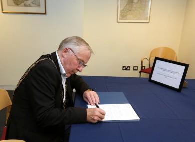 File photo of Dublin Lord Mayor Christy Burke