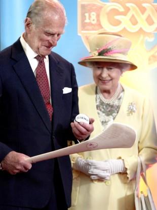 Queen Elizabeth II and the Duke of Edinburgh have visited Croke Park.