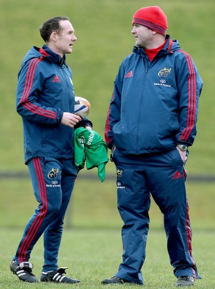 Costello [L] is one of two assistant coaches to Anthony Foley.