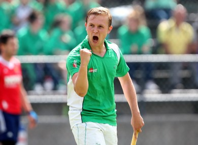 Ireland's Michael Watt celebrates at the final whistle.
