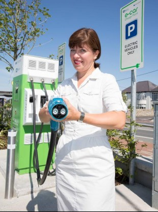 This is the publicity shot sent in by the ESB. We're not entirely sure why this woman appears to be dressed as a nurse.