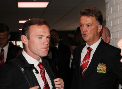 Louis Van Gaal and Wayne Rooney as Manchester United fly to Los Angeles.