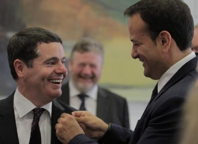 Paschal Donohoe and Leo Varadkar today