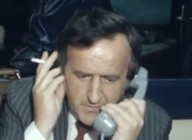 Albert Reynold on the phone to Charlie Haughey in his days as the Minister for Transport
