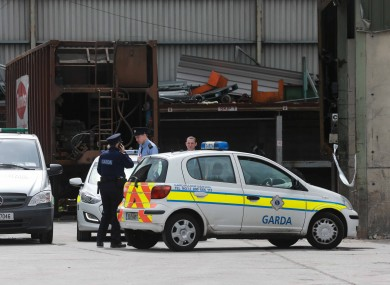 Gardaí at the scene this morning.