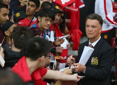 Manchester United boss Louis van Gaal.