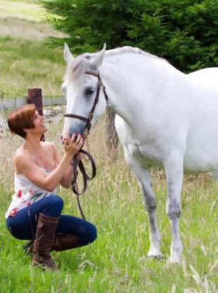 Gillian Quinn and a horse.