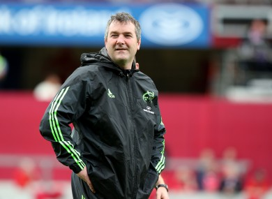 Munster head coach Anthony Foley may have to draft in backline cover.