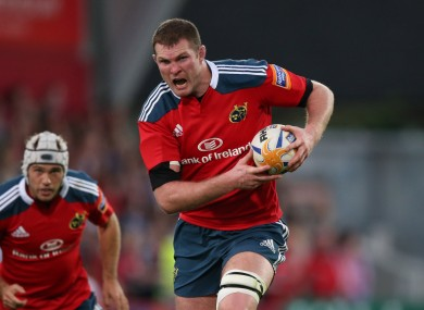 Ryan hasn't featured for Munster in the current campaign.