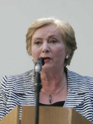 Justice Minister Frances Fitzgerald at the launch of the report today