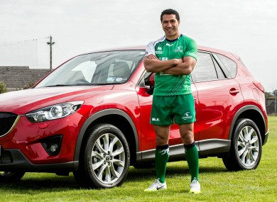 Mils Muliaina has been appointed as Connacht's official Mazda Ambassador for the 2014/15 season.