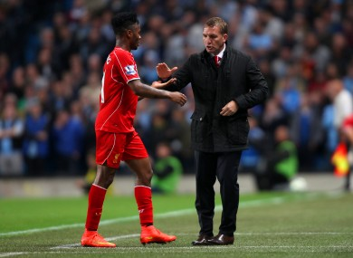 Brendan Rodgers is likely to bring Sterling back into the Liverpool team.