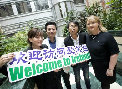 Fiona Herald from the Guinness Storehouse, Ya Luo from Wiiya International, Alex Li from E G Travel and Amanda Burns from Tourism Ireland