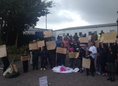 Residents at direct provision centre in Cork.