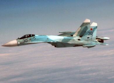 File photo of a Russian SU-27 jet.