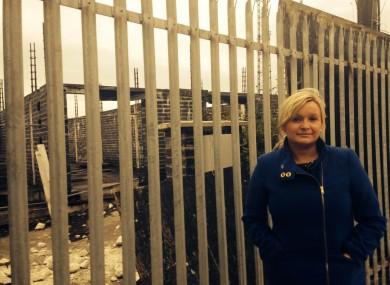 Sinn Féin councillor Noeleen Reilly at the development in Ballymun.