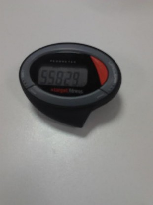 A pedometer showing distance walked.