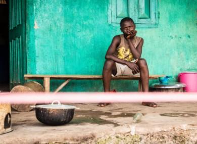 A young man in quarantine in Sierra Leone