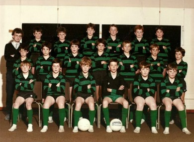 Phil Quinlan (front row, far left) after winning a county medal with St. Paul's, Navan in 1986