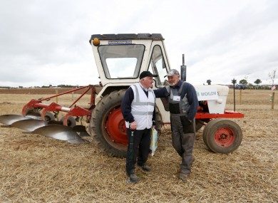 Cecil Hughs and John Donnelly from Wicklow at the National Ploughing Championships in Co Laois this year.