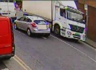 Gardaí are looking to speak to the driver of the white truck