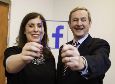 Sonia Flynn, MD of Facebook Ireland, and Enda Kenny
