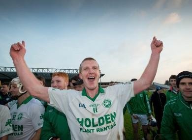 Henry Shefflin celebrates after Sunday's Kilkenny county final.