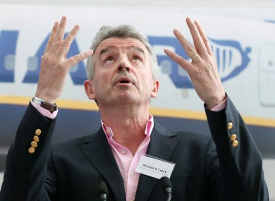 Ryanair CEO Michael O'Leary. Not a fan of Irish Water