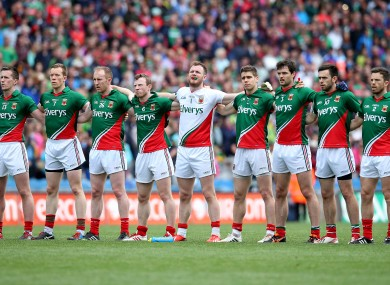 The Mayo football side before this year's battle with Cork.