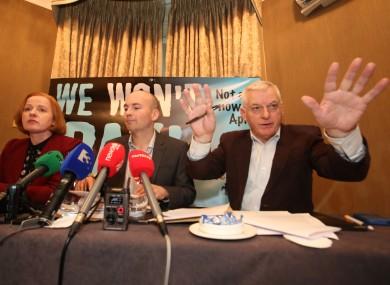 Socialist/AAA TDs Ruth Coppinger, Paul Murphy and Joe Higgins.
