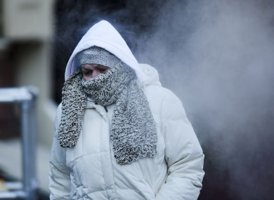 A woman in Philadelphia, where people are bracing themselves for a similar snow storm to arrive today.
