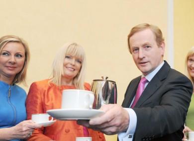 Enda Kenny with Fine Gael senator Imelda Henry and TD Mary Mitchell-O'Connor