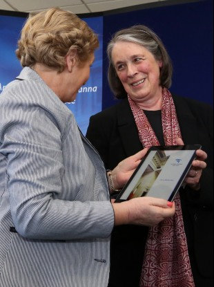 Chief Justice Susan Denham (right) with Minister for Justice Frances Fitzgerald
