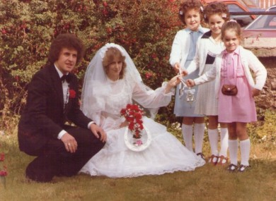 The parents of TheScore.ie writer Steven O'Rourke on their wedding day.
