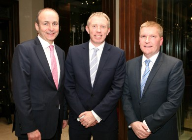 Michael Martin, Timmy Dooley and Michael Mc Grath.