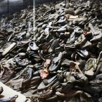 Shoes at Auschwitz concentration camp, Poland.<span class=