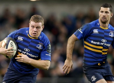 Cronin [left] is a key cog in Leinster's attacking plans.
