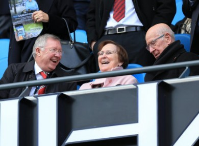 Fergie in full ambassadorial mode at the Ethiad.