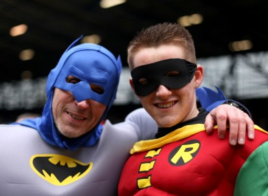 'Batman' was in attendance as the brawl broke out.