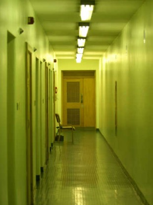 Empty corridors of the Dochas Centre, Mountjoy Prison
