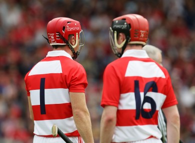 Cork's Anthony Nash and Darren McCarthy.
