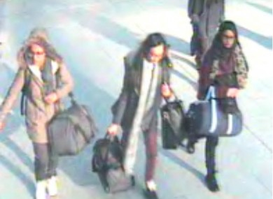 London schoolgirls fleeing to Islamic State militants have crossed