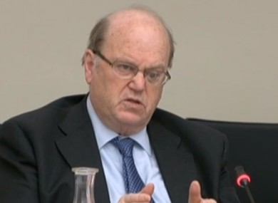 Minister for Finance Michael Noonan speaking today in the Finance Committee.
