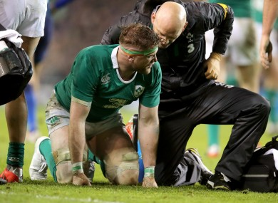 Heaslip was forced to leave the field in some discomfort.