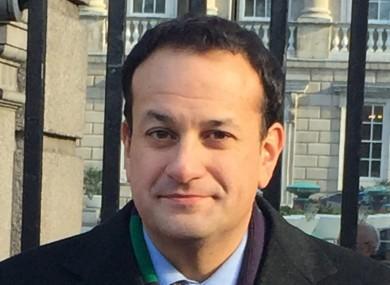 Leo Varadkar outside Leinster House today