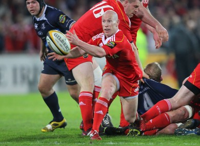 Stringer in action against Leinster back in 2011.