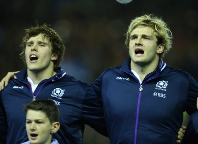 Richie Gray, right, with younger brother Jonny.