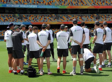 Ireland had a practice session at the Gabba yesterday.