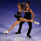 Gabriella Papadakis and Guillaume Cizeron of France perform during the Exhibition event in the ISU World Figure Skating Championship 2015 held at the Oriental Sports Center in Shanghai, China. Papadakis and Cizeron received a gold medal in the Ice Dance Free Dance event. (AP Photo/Ng Han Guan)<span class=