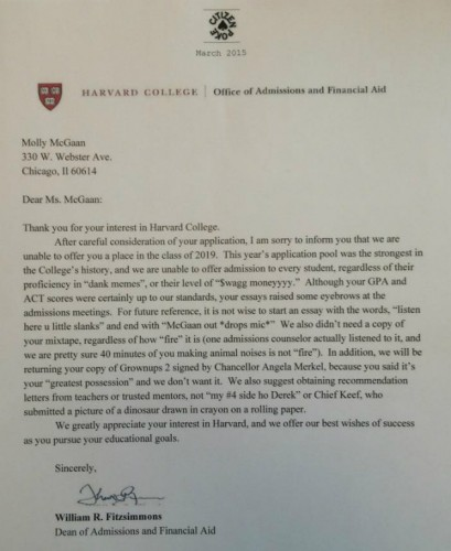 This Harvard Rejection Letter Went Super Viral But It's